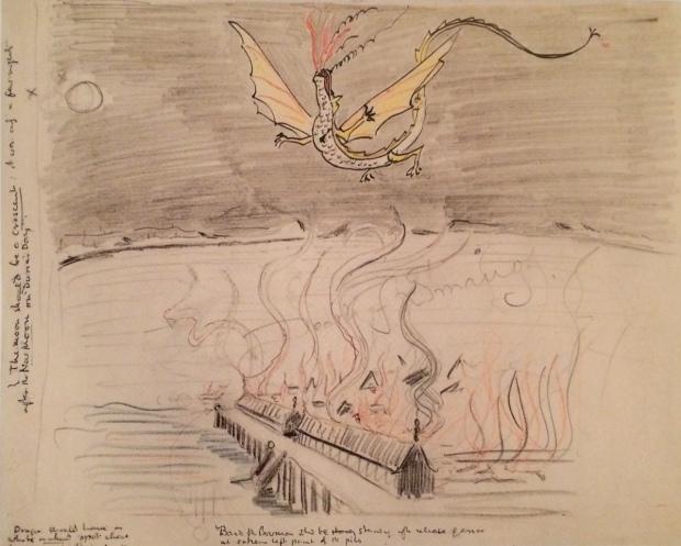 "JRRT ""Death of Smaug"""