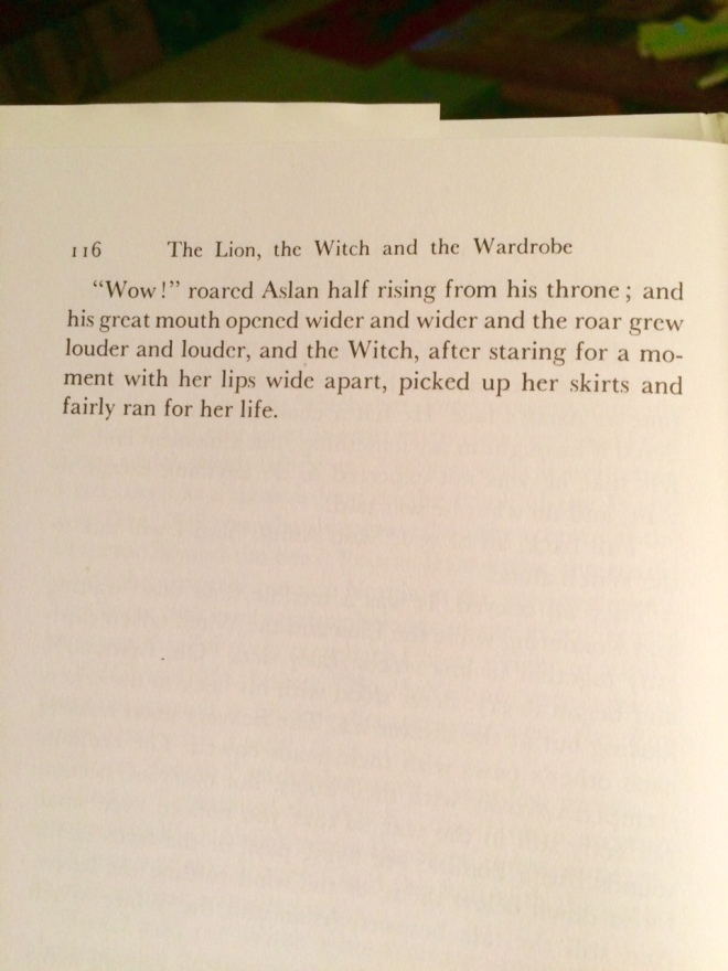 The Lion, the Witch and the Wardrobe, end of Chapter 13, per Macmillan (1950-1994)