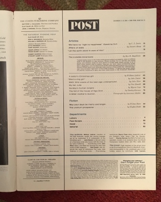 Table of Contents, SEP, 12/21/1963