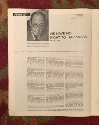 We Have No Right to Happiness (C.S. Lewis)