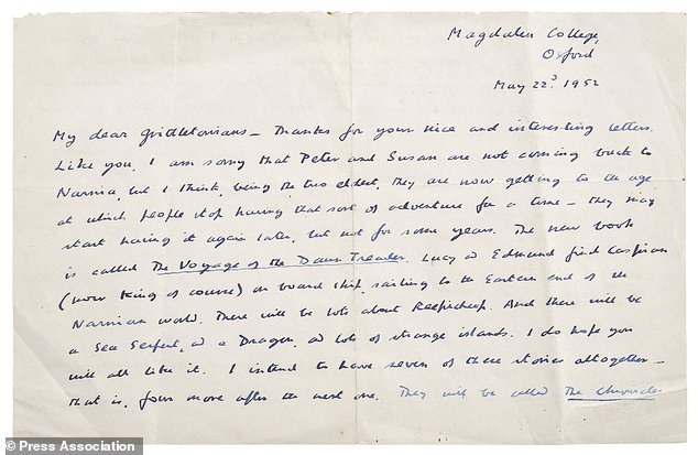 CS Lewis letter 1