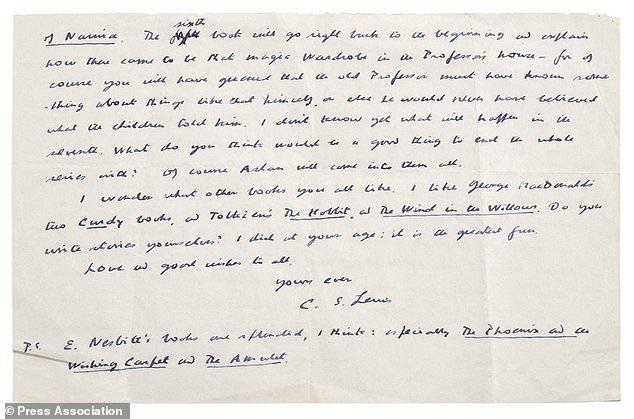 CS Lewis letter 2